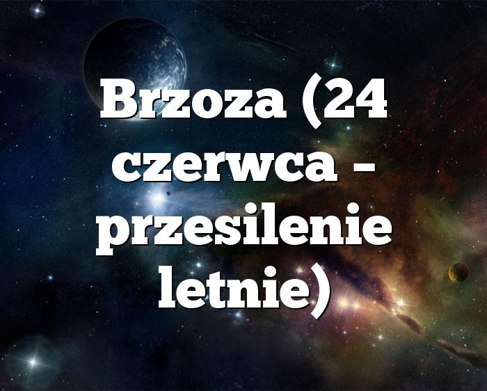 Brzoza (24 czerwca – przesilenie letnie)