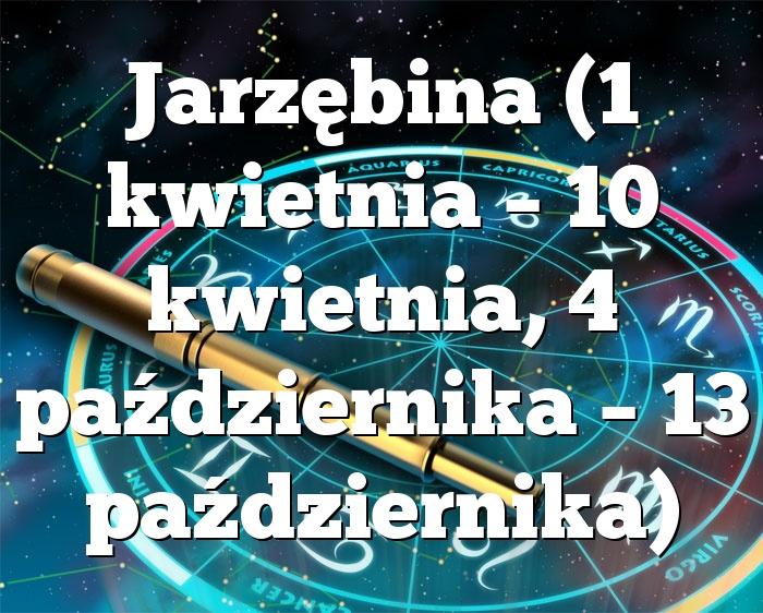 Jarzębina (1 kwietnia – 10 kwietnia, 4 października – 13 października)