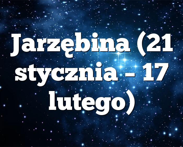 Jarzębina (21 stycznia – 17 lutego)