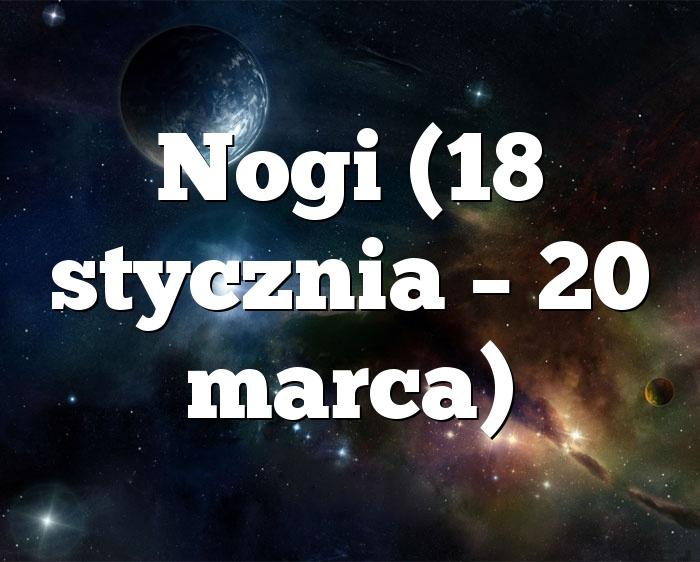 Nogi (18 stycznia – 20 marca)