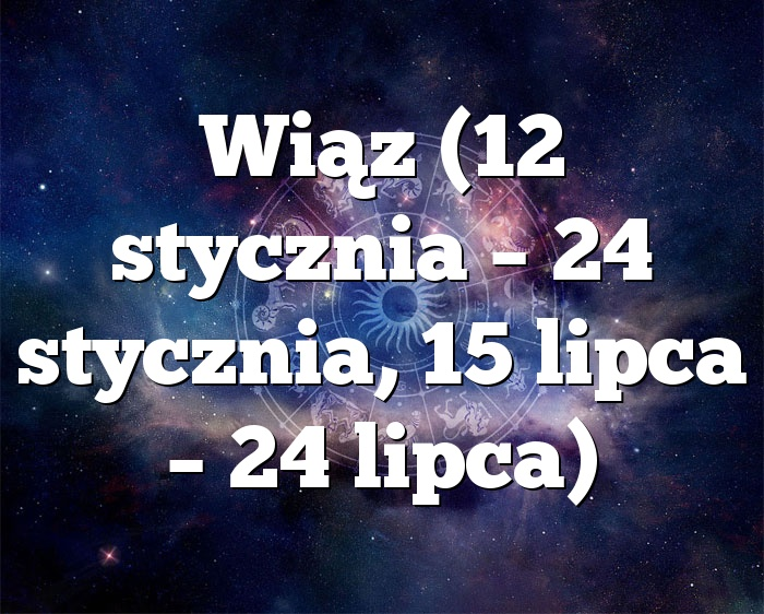 Wiąz (12 stycznia – 24 stycznia, 15 lipca – 24 lipca)