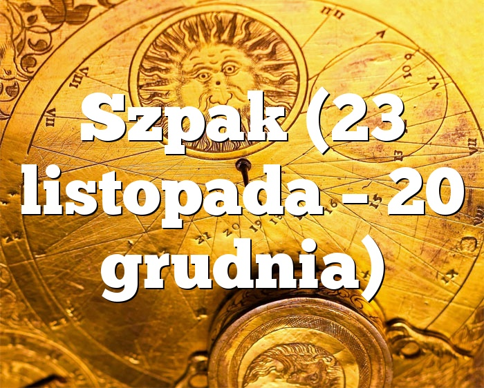 Szpak (23 listopada – 20 grudnia)