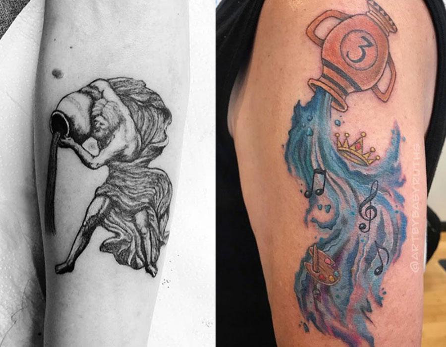 Wodnik - najlepsze tatuaże